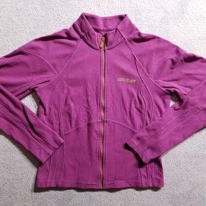 Spyder Pink Soft Fleece Full Zip Up Sweatshirt